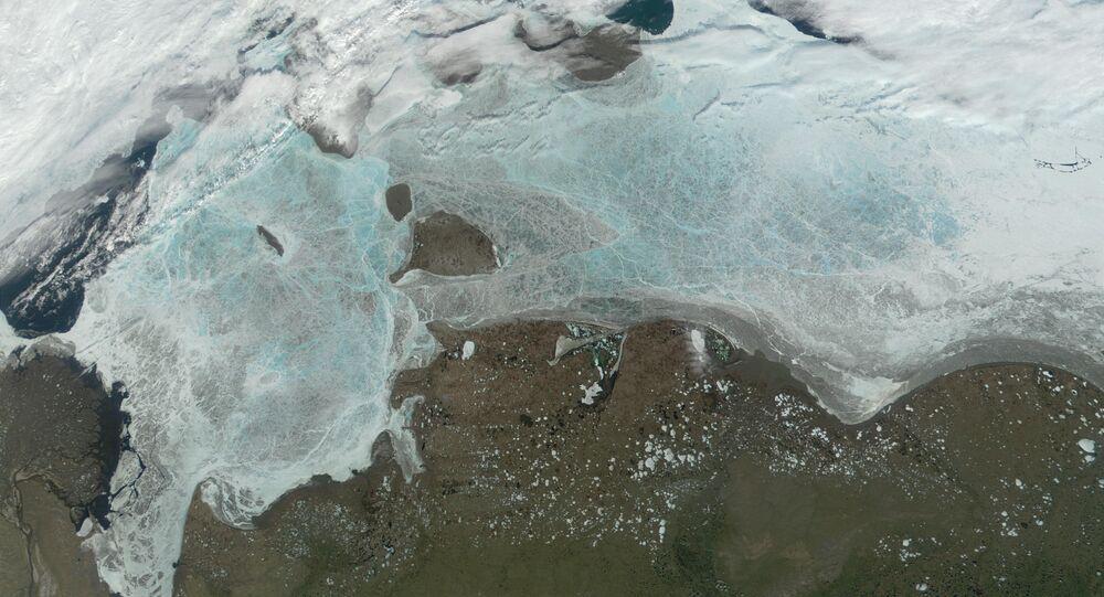 The frozen Laptev Sea