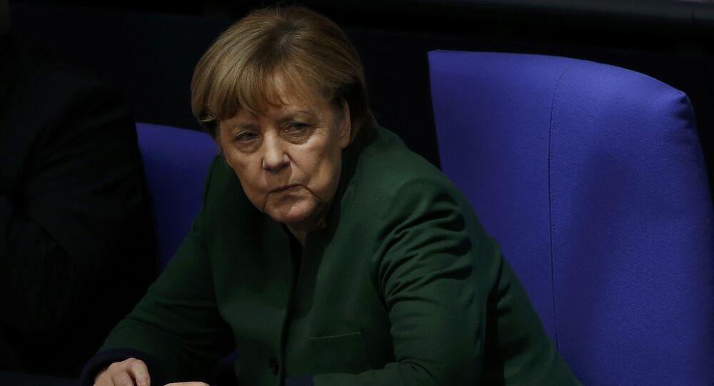 German Chancellor Angela Merkel attends a meeting at the lower house of parliament Bundestag on 2017 budget in Berlin, Germany, November 23, 2016