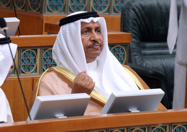 Kuwaiti PrimeMminister Sheikh Jaber al-Mubarak al-Sabah takes part in a parliamentary session at the national assembly in Kuwait City. (File)