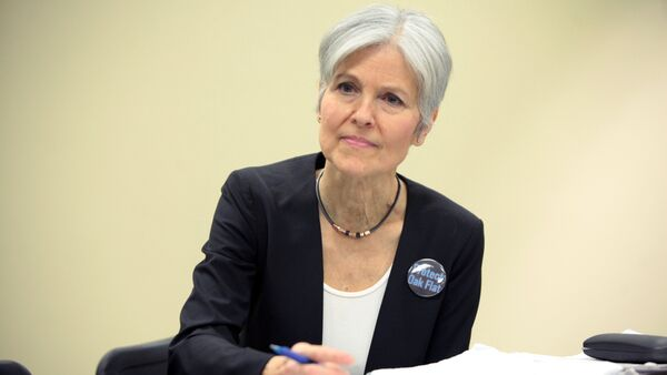 Jill Stein speaking at the Green Party Presidential Candidate Town Hall hosted by the Green Party of Arizona at the Mesa Public Library in Mesa, Arizona. (File) - Sputnik International
