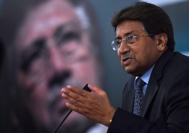 Former Pakistani president and military ruler, Pervez Musharraf addresses a youth parliament in Karachi. (File)