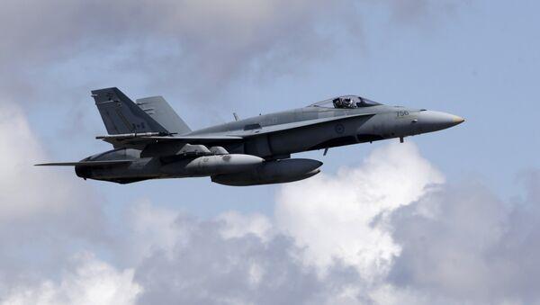 Canadian Air Task Force Jet CF-18 - Sputnik International
