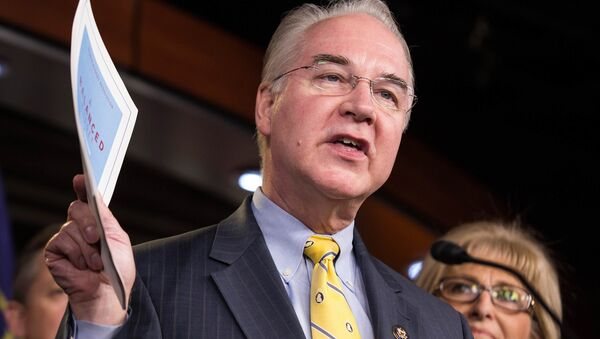 Chairman of the House Budget Committee Tom Price (R-GA) announces the House Budget during a press conference on Capitol Hill in Washington - Sputnik International