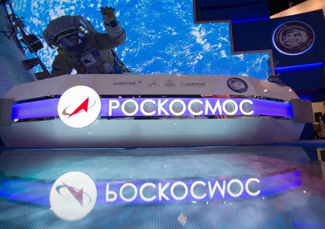 The stand of the Russian Federal Space Agency (Roscosmos). (File)