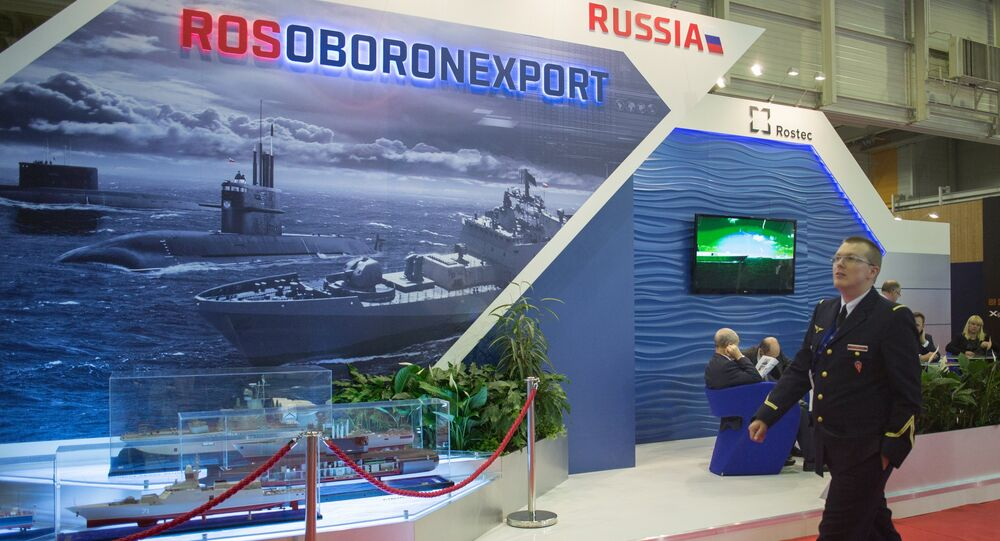 A stand of Russia's state arms exporter Rosoboronexport. (File)