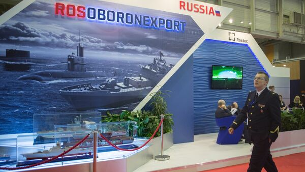 A stand of Russia's state arms exporter Rosoboronexport. (File) - Sputnik International