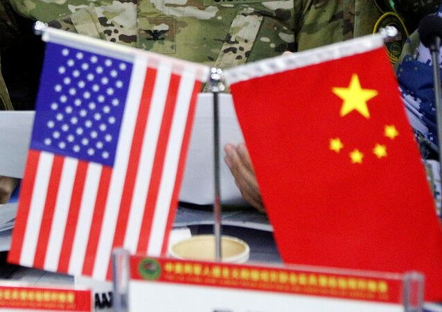 Chinese and US flag. (File)