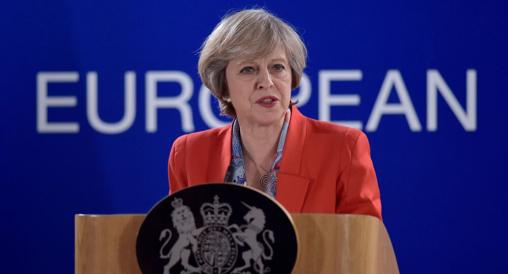 Britain's Prime Minister Theresa May holds a news conference after the EU summit in Brussels, Belgium October 21, 2016.