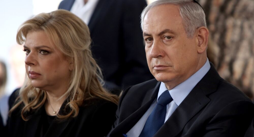 Israeli Prime Minister Benjamin Netanyahu with his wife, Sara