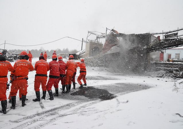 Rescuers work near the site of a coal mine disaster in Qitaihe, Heilongjiang province, China, November 30, 2016