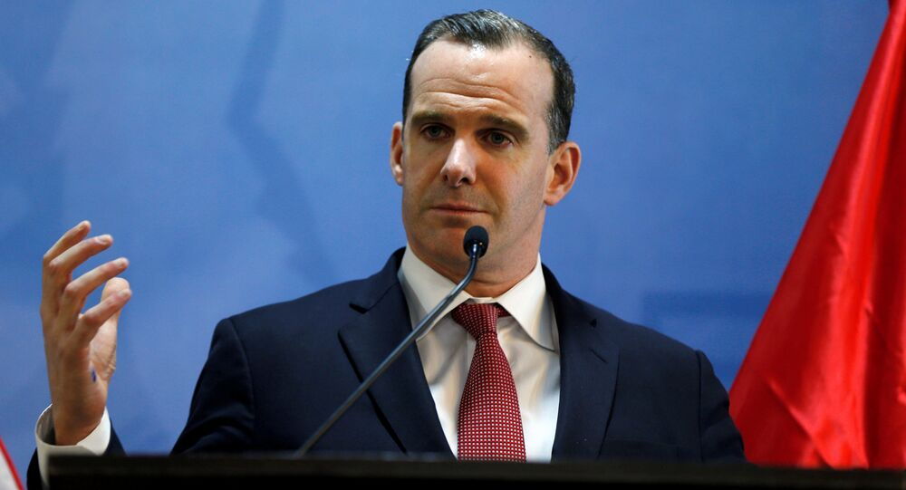 Brett McGurk, U.S. envoy to the coalition against Islamic State, speaks during a news conference at the U.S. Embassy in Amman, Jordan, November 6, 2016