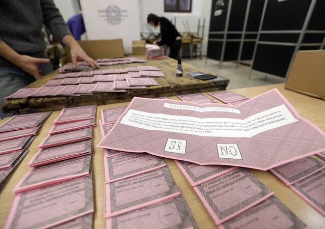 Ballots are prepared at a polling station in view of the upcoming Constitutional Reform referendum, in Rome, Saturday, Dec. 3, 2016