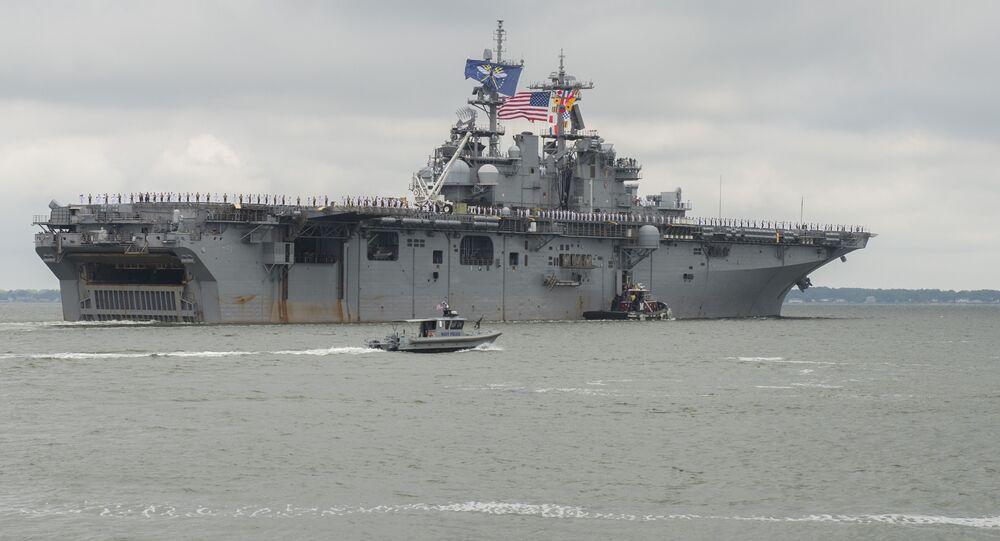 USS Wasp departs Naval Station Norfolk