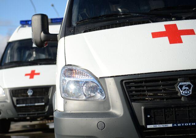Ambulance vehicles. File photo