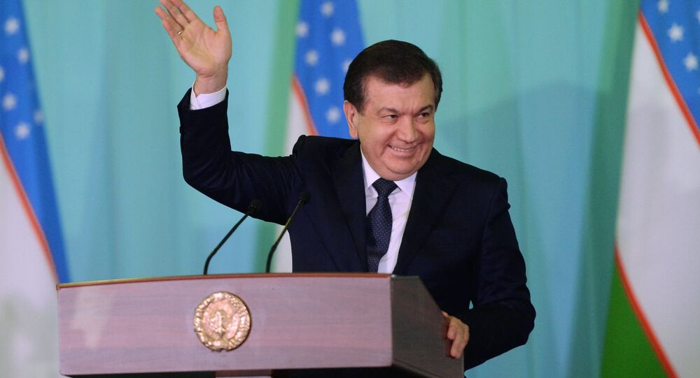 Uzbek Prime Minister and Acting President Shavkat Mirziyoyev, winner of the presidential election in Uzbekistan