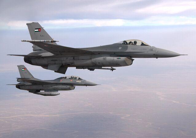 Jordanian F-16 fighter jets