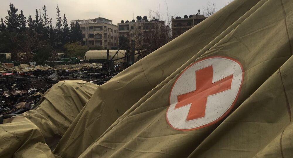 The Russian Defense Ministry said Monday that militants of the so-called Syrian opposition attacked a Russian mobile military hospital in Aleppo, killing two Russian military medics and wounding one. Local residents also sustained wounds.