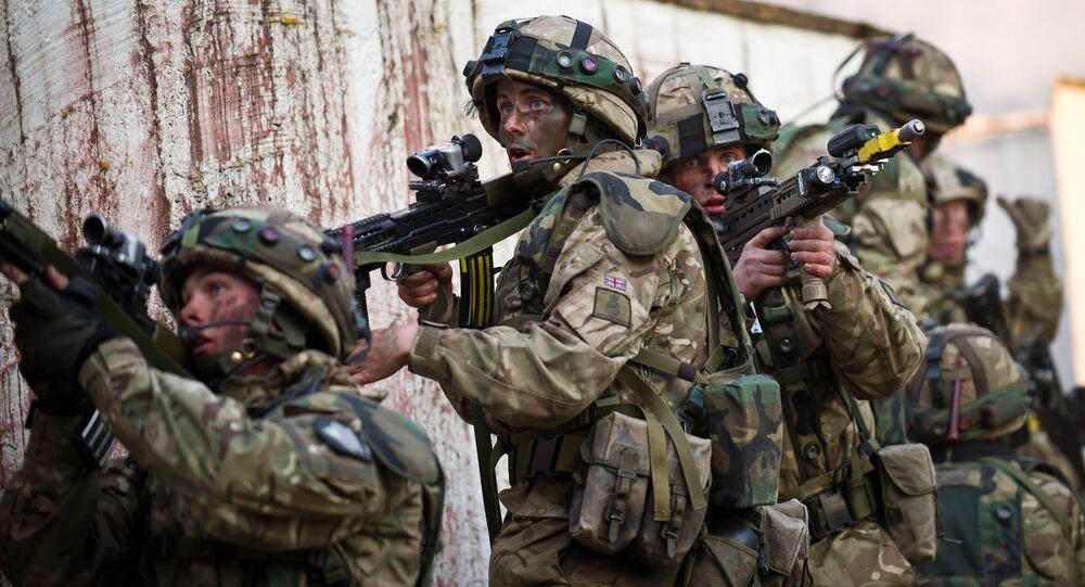 British cadets of the Royal Military Academy Sandhurst