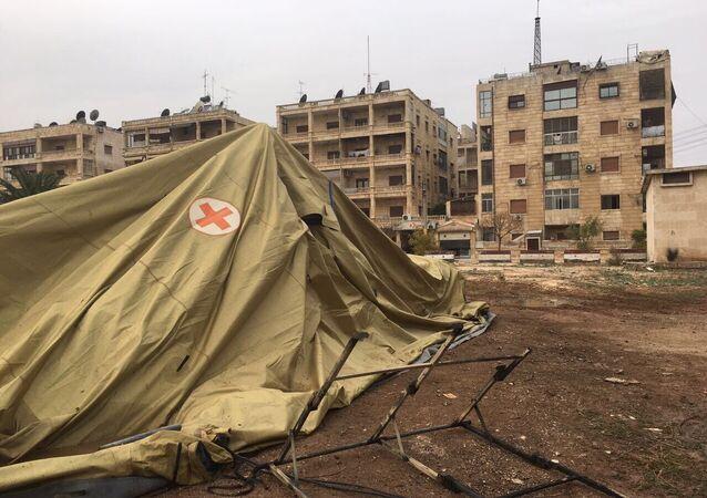 Russian defense ministry's mobile hospital in Aleppo comes under gunfire attack