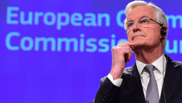 European Union's Chief Brexit Negotiator, French Michel Barnier, in charge of the preparation and conduct of the negotiations with Britain under article 50 of the Treaty on European Union (TEU) speaks during a press conference on December 6, 2016, at the European Commission in Brussells. - Sputnik International