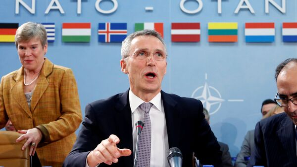 NATO Secretary-General Jens Stoltenberg chairs a meeting of NATO foreign ministers at the Alliance headquarters in Brussels, Belgium, December 6, 2016. - Sputnik International