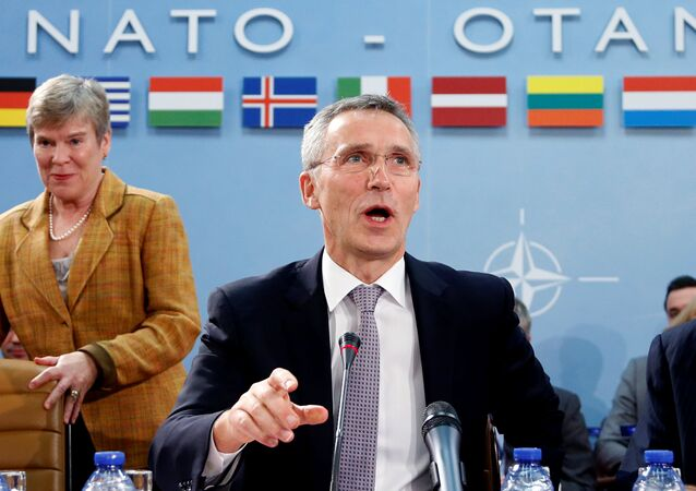 NATO Secretary-General Jens Stoltenberg chairs a meeting of NATO foreign ministers at the Alliance headquarters in Brussels, Belgium, December 6, 2016.