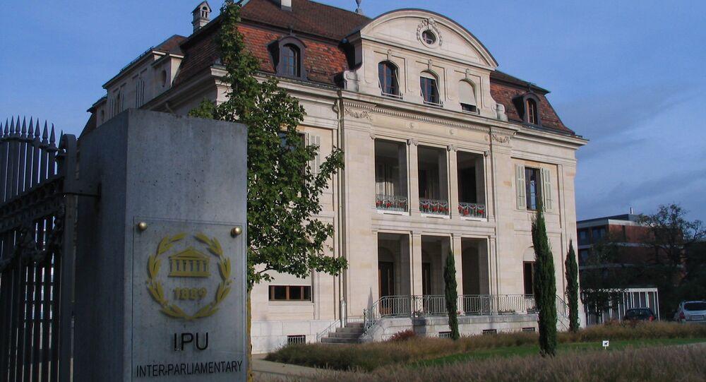 Headquarters of the IPU in Geneva. (File)