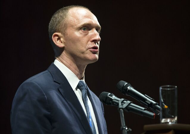 Carter Page, an adviser to US President-elect Donald Trump, speaks at the graduation ceremony for the New Economic School in Moscow, Russia.