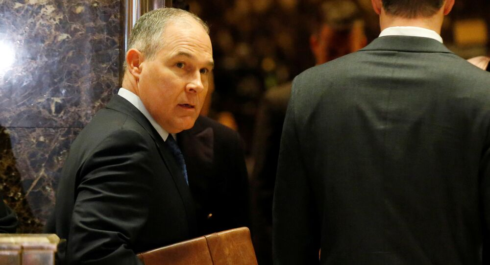 Scott Pruitt Attorney General of Oklahoma arrives to meet with U.S. President-elect Donald Trump at Trump Tower in Manhattan, New York City, U.S