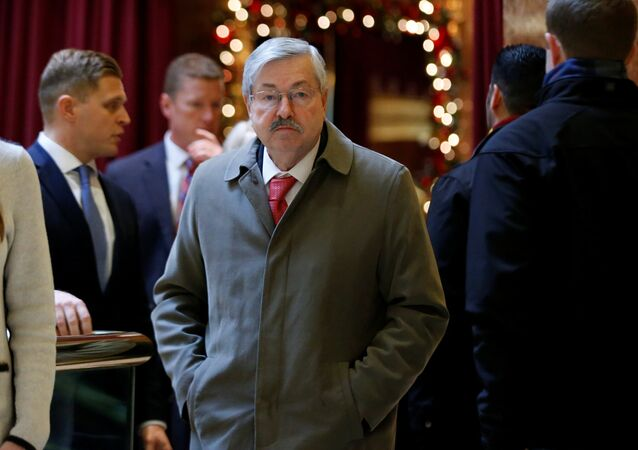 Governor of Iowa Terry Branstad arrives to meet with U.S. President-elect Donald Trump at Trump Tower in Manhattan, New York City, U.S