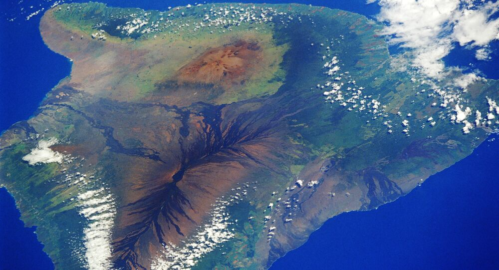 Satellite picture of the island of Hawaii
