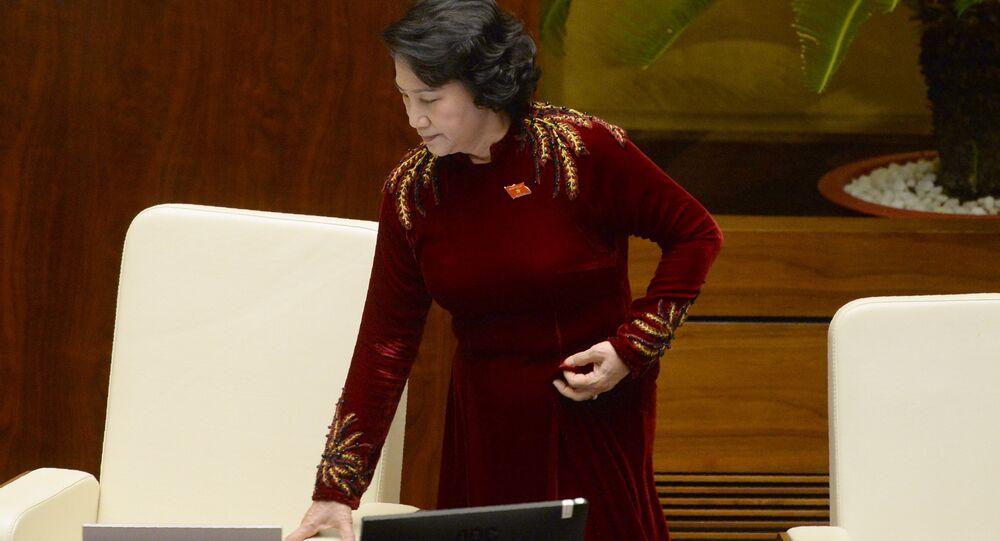 Vietnam's National Assembly Chairwoman Nguyen Thi Kim Ngan