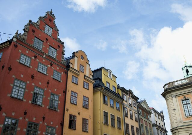 A view of buildings in Stockholm's old city