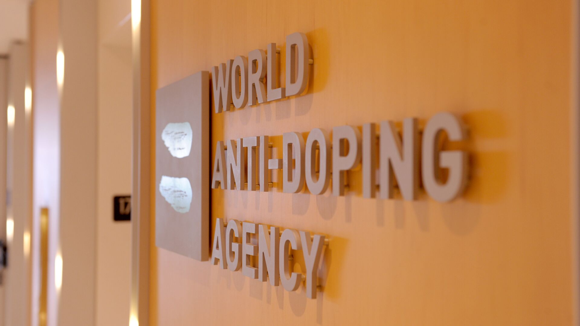 Picture of the logo of World Anti-Doping Agency (WADA) taken on September 20, 2016 at the headquarter of the organisation in Montreal. - Sputnik International, 1920, 15.09.2021