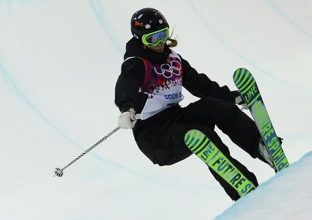 Spain's Katia Griffiths competes in the Women's Freestyle Skiing Halfpipe qualifications at the Rosa Khutor Extreme Park during the Sochi Winter Olympics on February 20, 2014. (File)