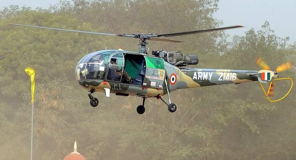 Indian Army Chetak helicopter (File)