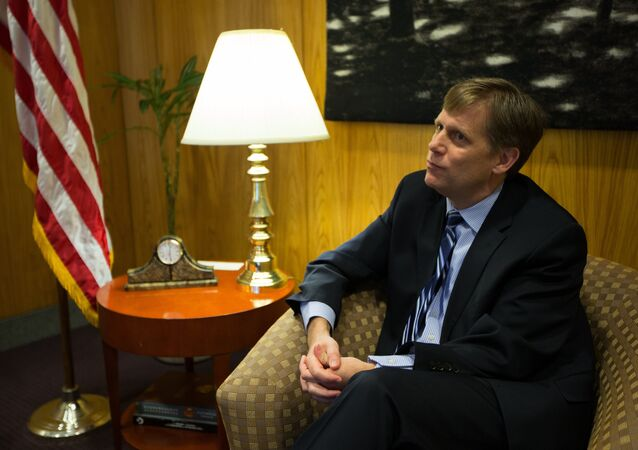 Michael McFaul, the US Ambassador to the Russian Federation, gives an interview at the US Embassy in Moscow (File)