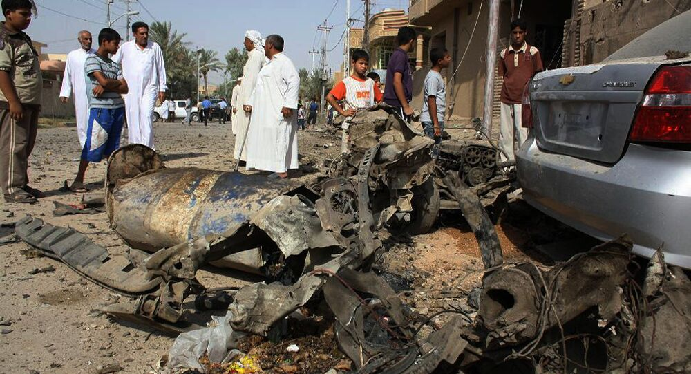 Wreckage of a car after a car bomb exploded in the former insurgent stronghold of Fallujah (File)