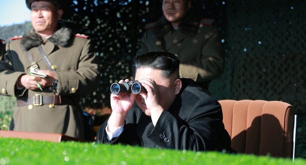 North Korean leader Kim Jong Un guides the combat drill of the service personnel of the special operation battalion of KPA Unit 525 in this undated photo released by North Korea's Korean Central News Agency (KCNA) in Pyongyang on December 11, 2016