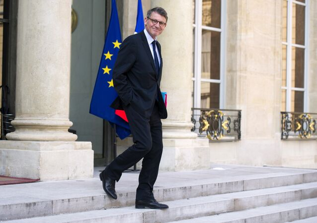 French Education Minister Vincent Peillon leaving after attending the weekly cabinet meeting at the Elysee presidential Palace in Paris (File)