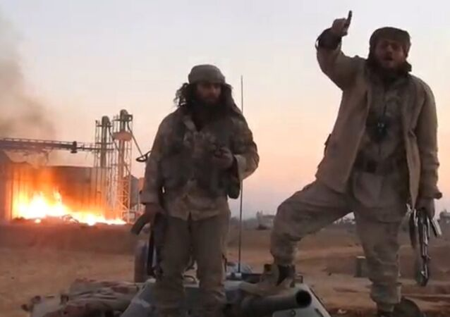 A still image taken from a video released by Daesh-affiliated Amaq news agency, said to be in Palmyra, on December 11, 2016