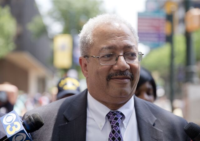 Rep. Chaka Fattah, D-Pa., walks after leaving the federal courthouse in Philadelphia, Tuesday, June 21, 2016