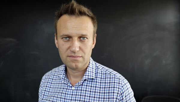In this photo taken on Thursday, Sept. 1, 2016, Russian opposition activist Alexei Navalny speaks during an interview to the Associated Press in Moscow, Russia - Sputnik International