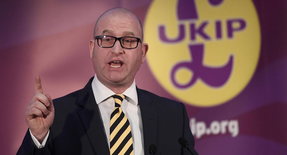 United Kingdom Independence Party (UKIP) newly elected leader Paul Nuttall speaks after the announcement of his success in the leadership election, in London, Britain November 28, 2016