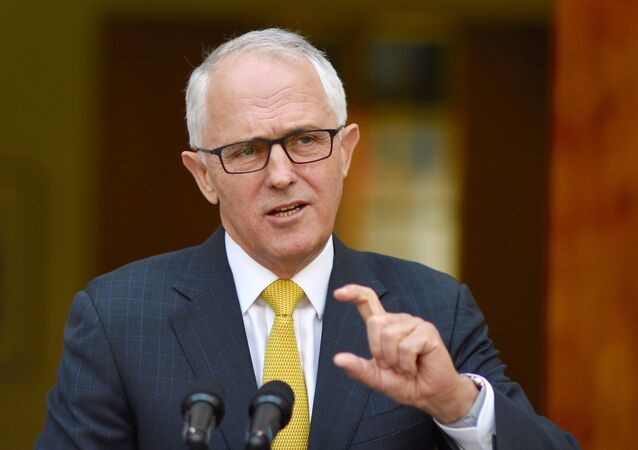 Australian Prime Minister Malcolm Turnbull reacts as he answers questions during a media conference in Parliament House, Canberra, Australia, November 22, 2016
