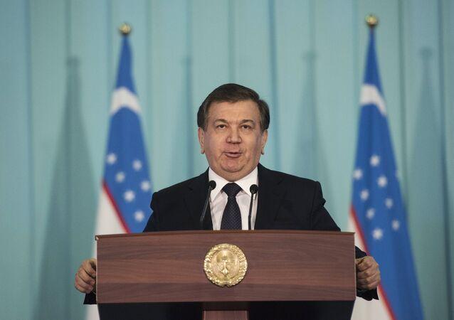 Shavkat Mirziyeyev, Prime Minister and acting President of Uzbekistan, who has won the presidential elections in Uzbekistan.