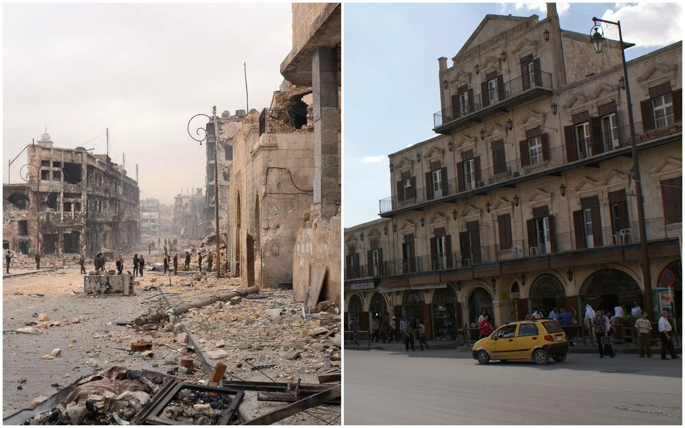 Scars of the War Torn Aleppo: Before and After