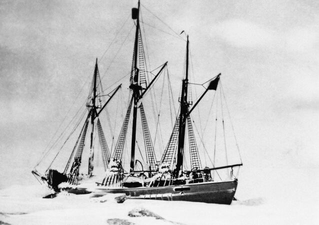 The schooner Maud, with which Capt. Roald Amundsen, discoverer of the South Pole, hopes to reach the North Pole in 1924.
