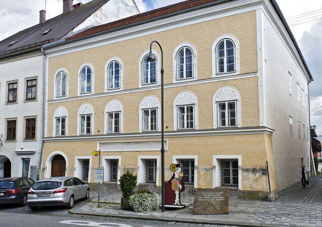 Picture taken on September 20, 2012 shows the house were Adolf Hitler was born in Braunau, Austria.