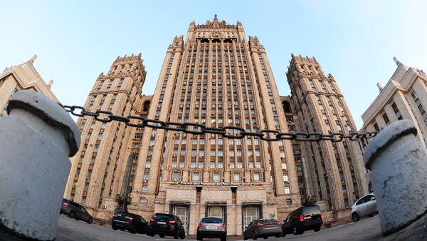 The Russian Ministry of Foreign Affairs on Smolenskaya-Sennaya Square in Moscow - Sputnik International